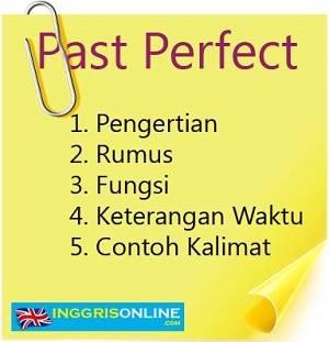 rumus past perfect tense beserta contoh kalimat