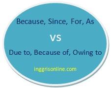 penggunaan dan perbedaan because dan since serta due to